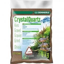 Dennerle Crystal Quartz Gravel Nature Dark Brown 1-2mm 5kg