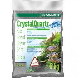 Dennerle Crystal Quartz Gravel Nature Slate Grey 1-2mm 5kg