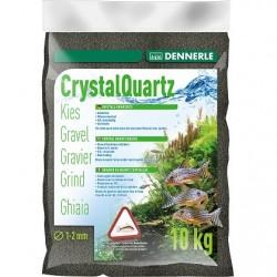 Dennerle Crystal Quartz Gravel Nature Diamond Black 1-2mm 10kg