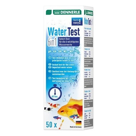DENNERLE Water Test 6in1 50pc.