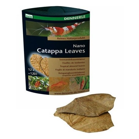 DENNERLE Nano Catappa Leaves 12pc.