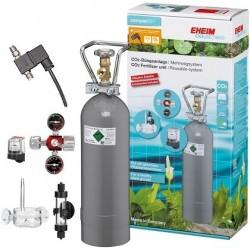 EHEIM 6064216 CO2 SET600 με επαναγεμιζόμενη φιάλη 2000g και ηλεκτρ.βαλβίδα