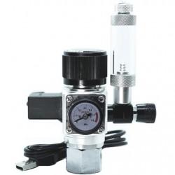 Strideways Pro CO2 Regulator με μονό μανόμετρο/ηλεκτροβάνα και μετρητή φυσαλίδων