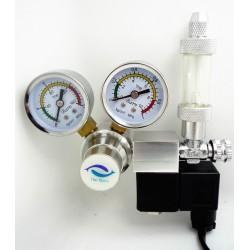 Μειωτής πίεσης CO2 με διπλό μανόμετρο/ηλεκτροβάνα και μετρητή φυσαλίδων