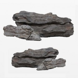 amtra φυσική πέτρα (Seiryu) Quaraz stone natural black 300-600g