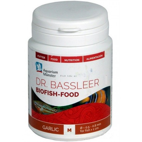 AQUARIUM MUNSTER DR. BASSLEER BIOFISH-FOOD GARLIC M 60g
