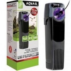 Aquael UNI FILTER 500 UV εσωτ.φίλτρο με αποστειρωτή UV