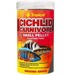Tropical CICHLID CARNIVORE SMALL PELLET 250ml/90g